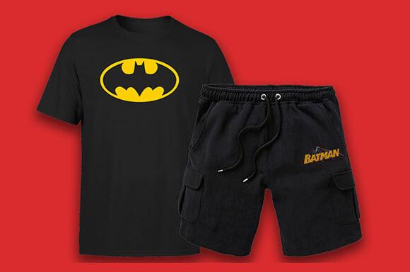 DC COMICS SHORT & T-SHIRT SLECHTS €21,99!