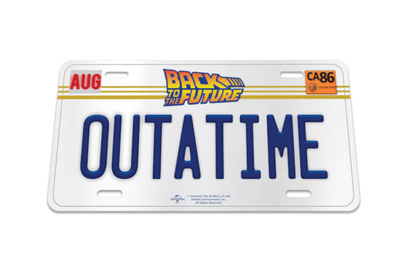 Back To The Future Nummerbord