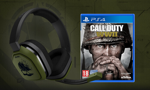 A10 HEADSET & CALL OF DUTY: WWII<BR>VOOR €113,99