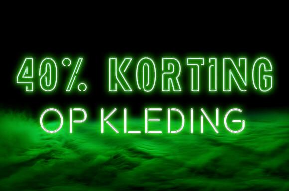 40% korting op kleding