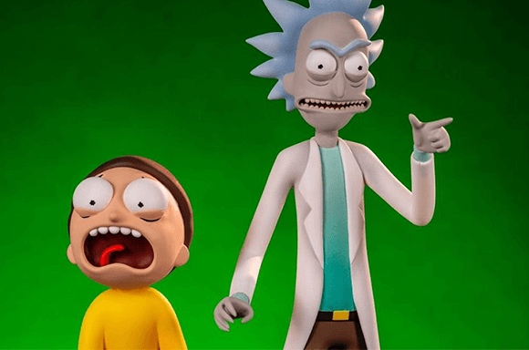GIANT RICK & MORTY <BR> ACTION FIGURES