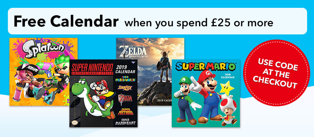 Free Calendar when you spend £25 or more - Use Code at the Checkout