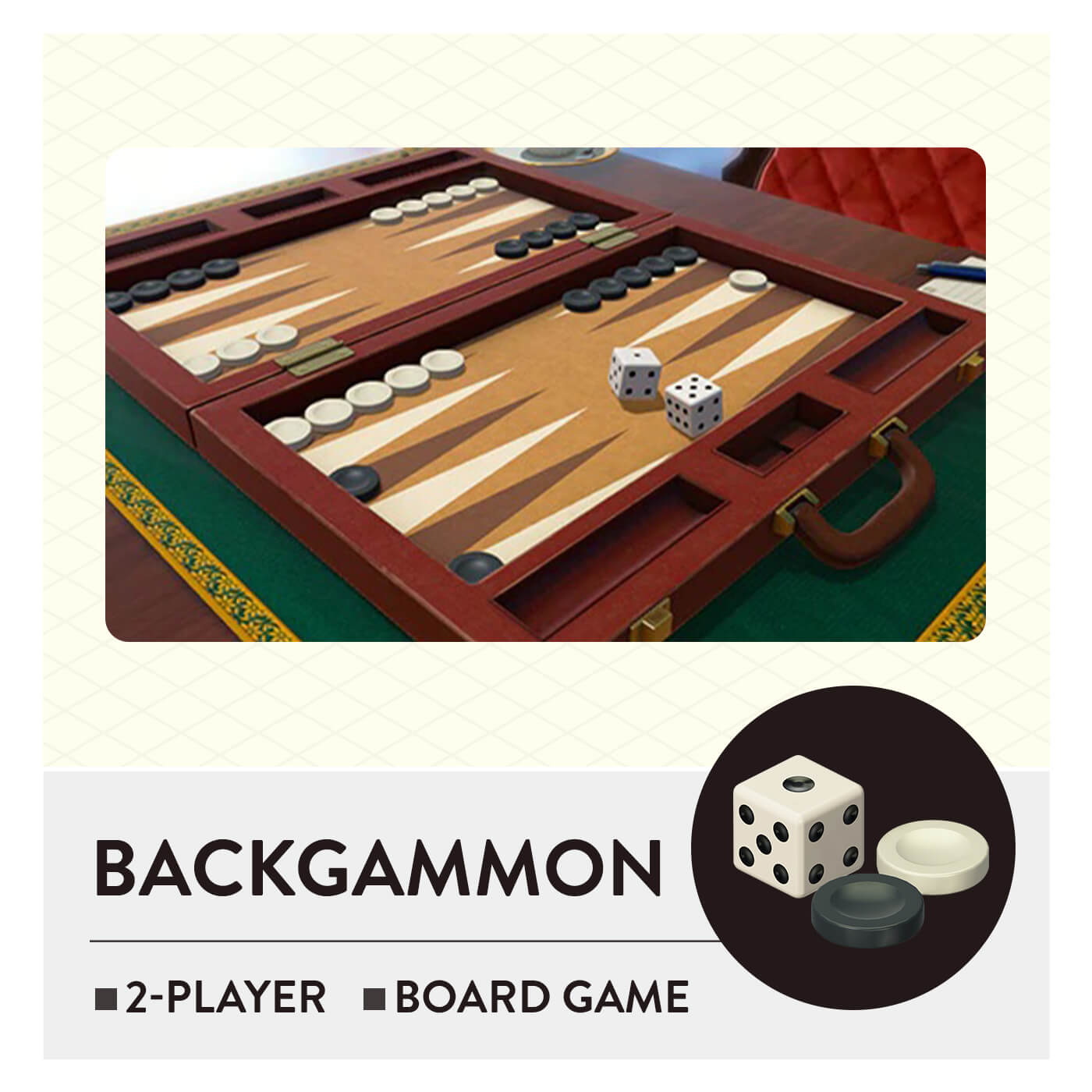 51 Worldwide Games - Backgammon