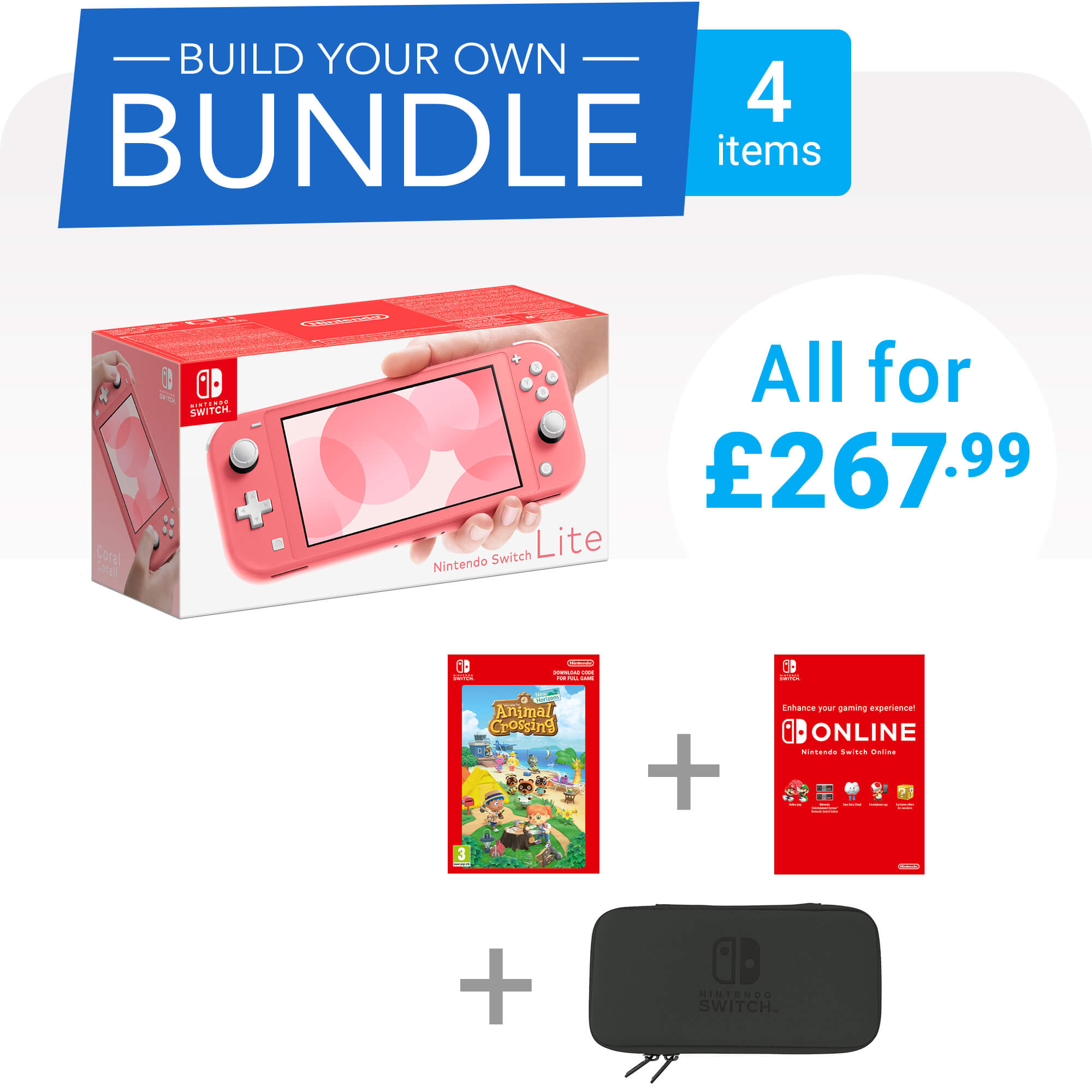 Build your own Nintendo Switch Lite bundle for only £267.99