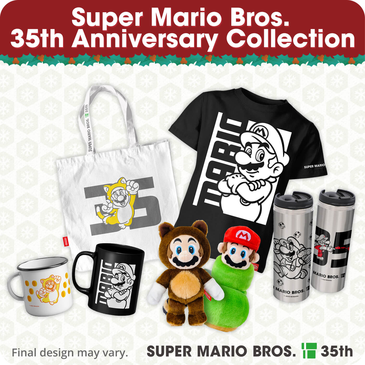 Super Mario Bros. 35th Anniversary merchandise