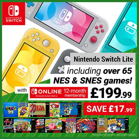 Nintendo Switch Lite plus Nintendo Switch Online 12-month membership