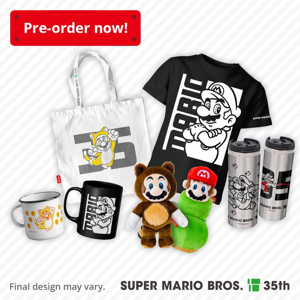Register your interest – Super Mario Bros. 35th Anniversary merchandise