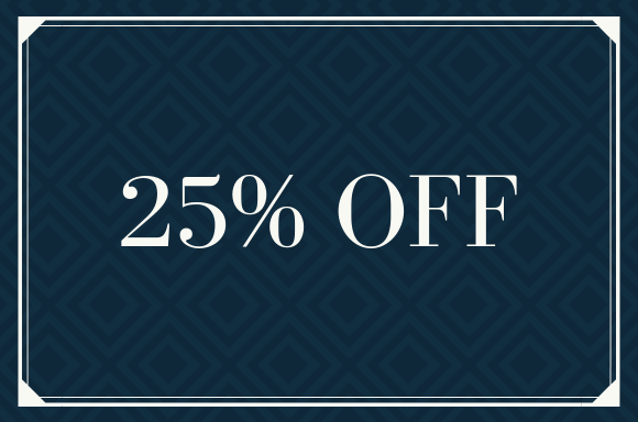 Exclusive 25% OFF
